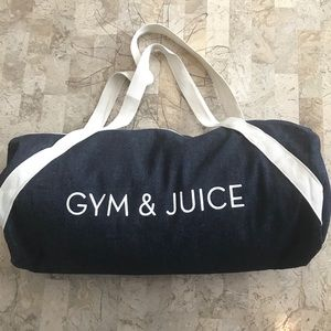 Other - Gym&Juice duffle gym denim bag NWOT
